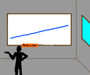 Blue line. Open to interpretation