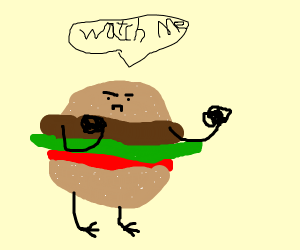 imma fighting burger