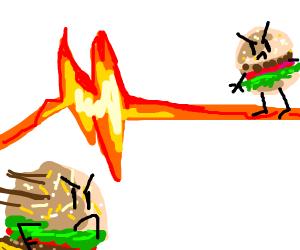 Burgers dueling