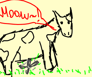 Mowing Cow (not mooing)