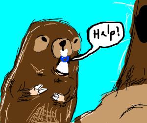 Beaver eats talking marbles