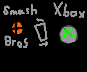smash bros symbol is just xbox symbol tilted
