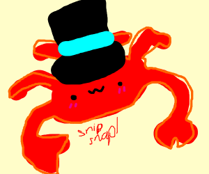 Crab wearing a Top Hat
