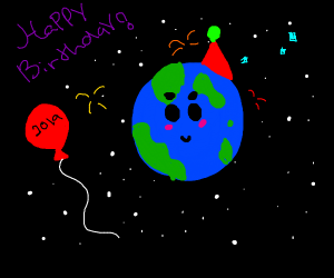 Earth's birthday.