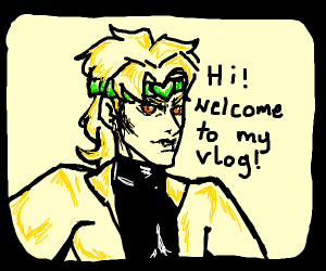 dio brando filming his vlog
