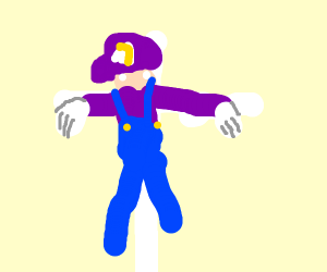 Waluigi died for us on the cross