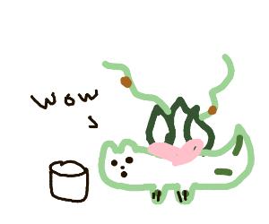 Ivysaur has a cup