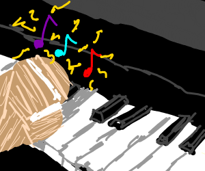broke hand playing piano