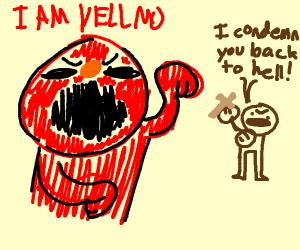 Yellmo undergoing exorcism