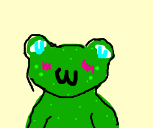 Cute frog uwu in your face