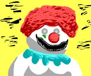 Scary chubby clown
