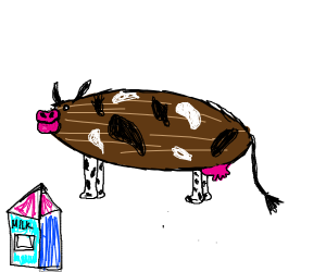 Almond cows gives almond milk.