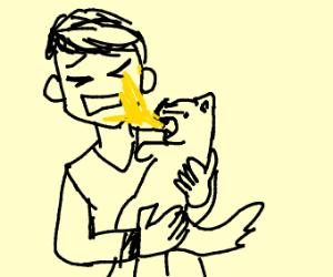 cat pukes on owner
