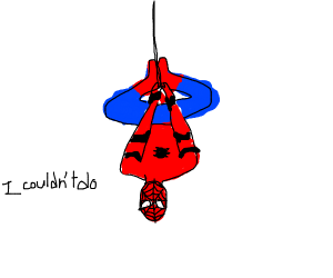 """peter parker says: """"i couldn't do"""""""