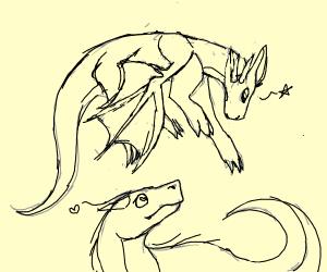 dragon x dinosaur