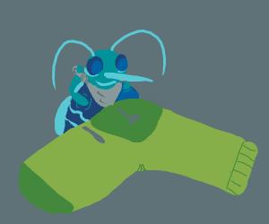 Moth enjoying a meal