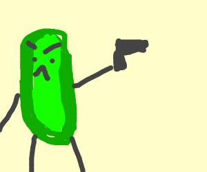 Pickle rick has a gun