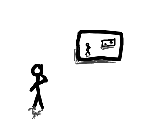 man observes worlds best drawing