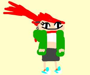 The girl from home fo imaginary friends maybe