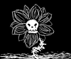 Black Deathly Flowers
