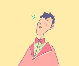 Dude wearing a bowtie