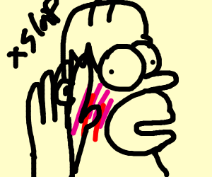 Homer Simpson was slapped and it hurts