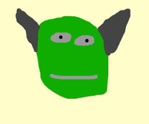 shrek with donkey's ears