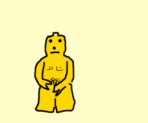 Naked LEGO person but not nsfw