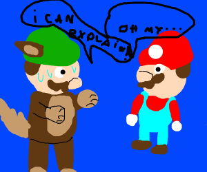 mario finds out luigi is furry!!!!!!11!11one