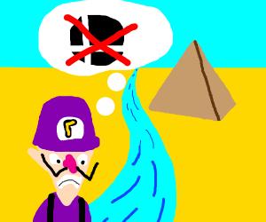 Egyptian Waluigi angry because no smash