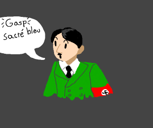 French hitler is suprised