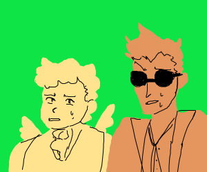 Good omens guys looking unconfy