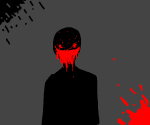i dont know draw something scary im bored
