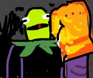 Thanos with Kermit head