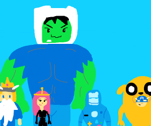 Avengers cosplay Adventure Time