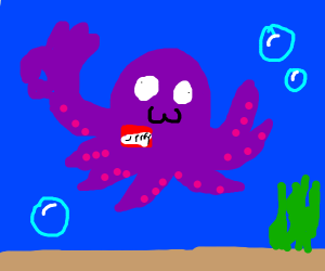 Derp octopus making ok signs is jerry