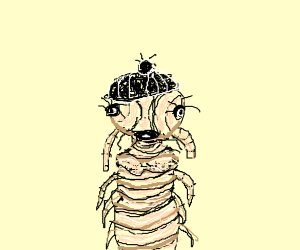 Lice-woman with double chin