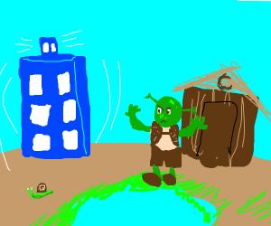 the tadis lands at shreks swamp