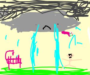 Rain cloud is crying
