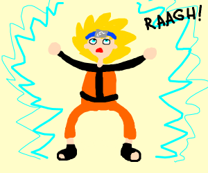 Naruto goes super saiyan