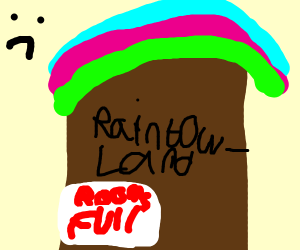 """No rooms available in rainbowland:""""("""