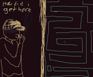 Detective smoking in a maze