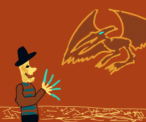 Freddy Kruger vs a pterodactyl