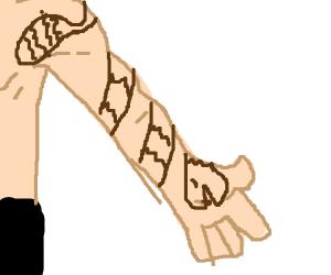 Tattoo of a rattlesnake