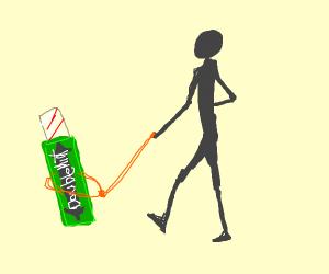 Walking your pet gum