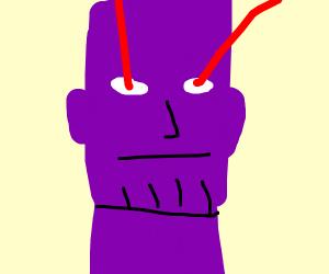 Thanos has lazar-shooting eyes