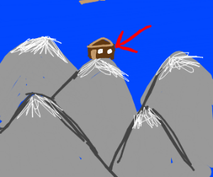 The mountain-homes.