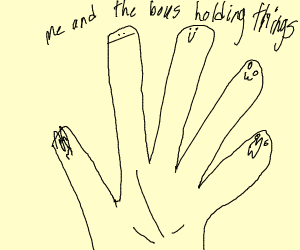 me and the boys but fingers