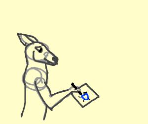 Wolf playing Drawception