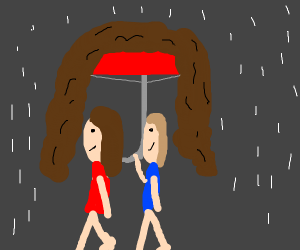 umbrella with hair